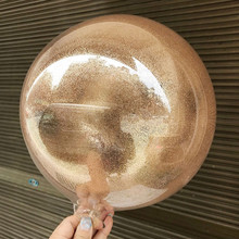 18 Inches Transparent DIY Glitter Balloons Helium Balls Big Bobo Round Ballons For Wedding Party Decor