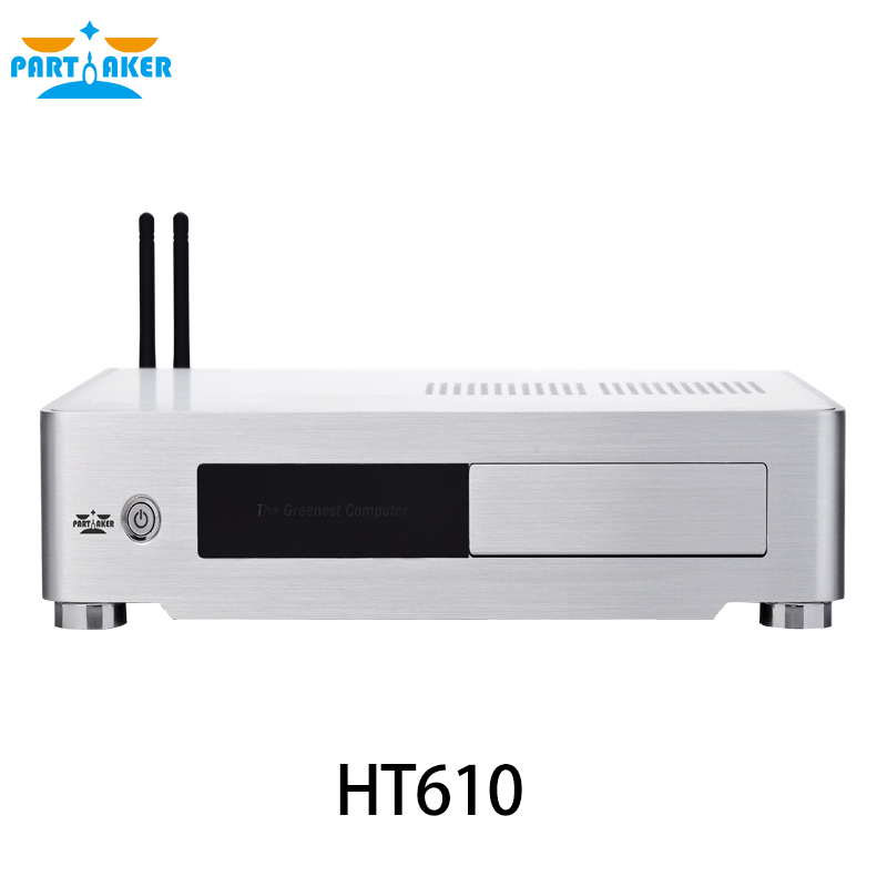 Aluminum MINI ITX HTPC chassis LED activity swappable drive bays reader ESATA on MATX Motherboard