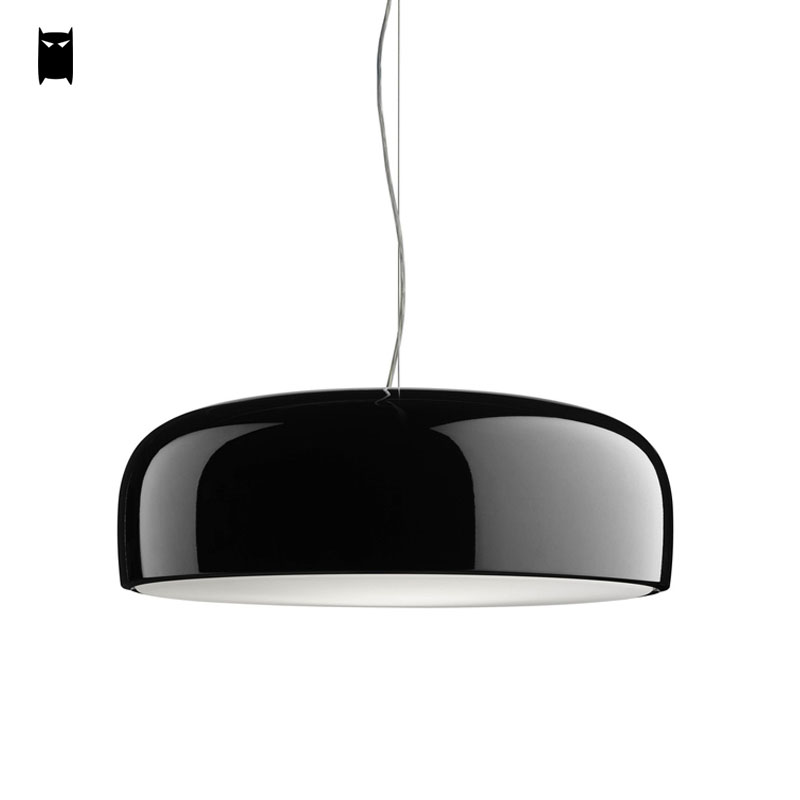 Black White Aluminum Smithfield Pendant Light Fixture Modern Nordic Hanging Lamp Avize Luminaria Design Indoor Home Dining Room недорого