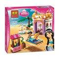 Bela 10434 Série Princesa Jasmine's Exótico Palácio Conjunto Compatível com Blocos de Construção de Tijolos Brinquedos