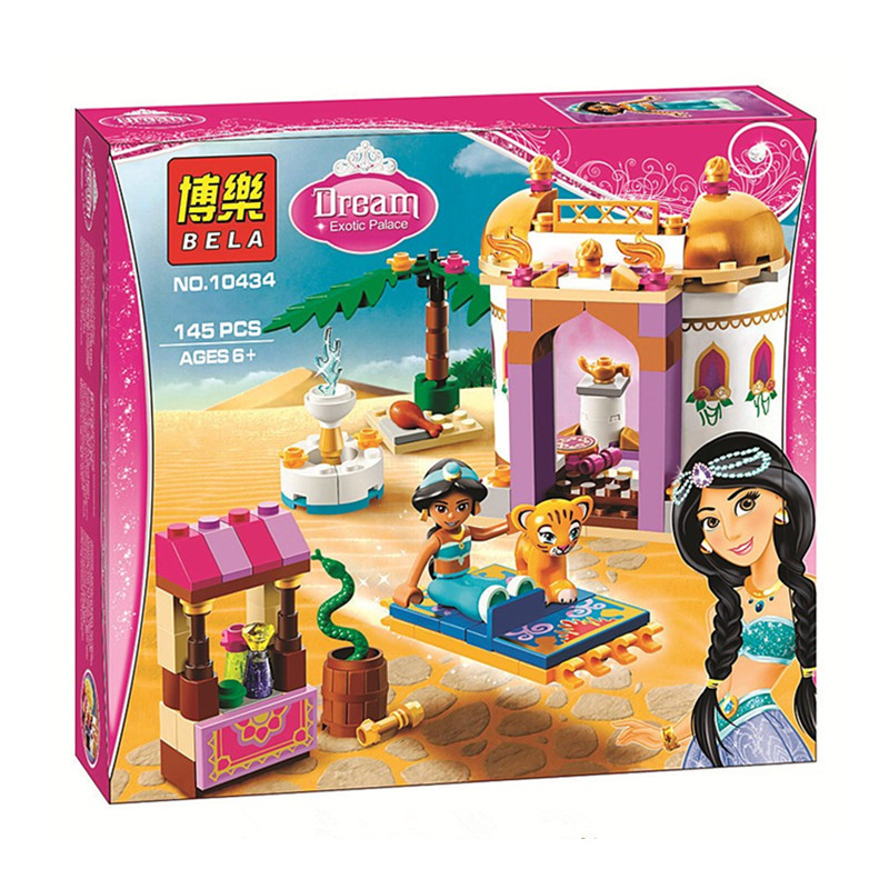 Bela 10434 Series Princess Jasmine's Exotic Palace Bricks Set Compatible with Building Blocks Toys new bela friends series girls princess jasmine exotic palacepanorama minifigures building blocks girl toys