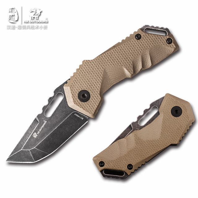 Folding knife Hunting Outdoors knife Camping Survival Pocket Knives 8Cr14Mov Blade 58HRC G10 handle EDC Tools sharp knife