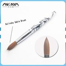 ANGNYA 1 шт Акриловая кисть для ногтей 8#10#24# классический дизайн Белая Акриловая Ручка Колонок Соболь кисть профессиональный дизайн ногтей салон