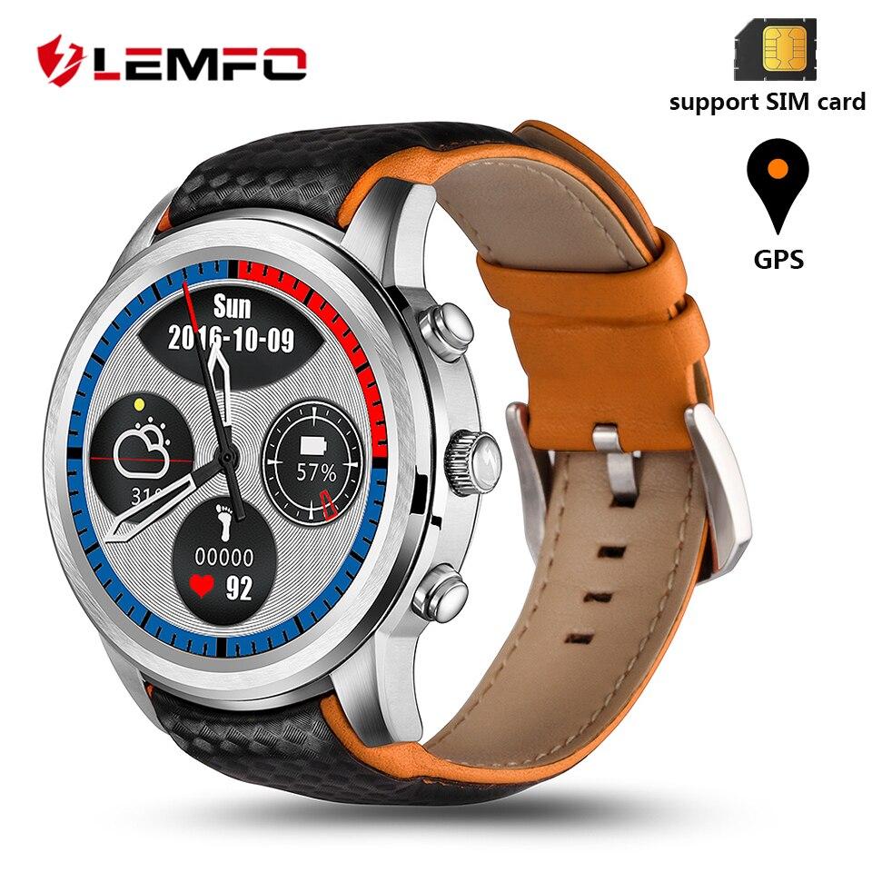 LEMFO LEM5 Smartwatch Smart Watch Men Waterproof Android 5.1 Support Bluetooth Wifi 3G GPS App Download Smart Watch