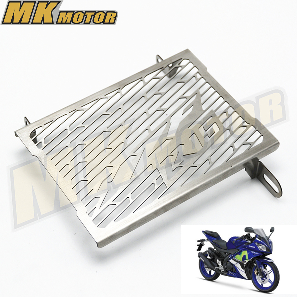R15 Radiator Grills Grille Guard Cover Protector For Yamaha R15 Tracer YZF-R15 2014 2015 2016 2017 Free Shipping black motorcycle accessories radiator guard protector grille grill cover for yamaha yzf r1 yzf r1 2009 2014