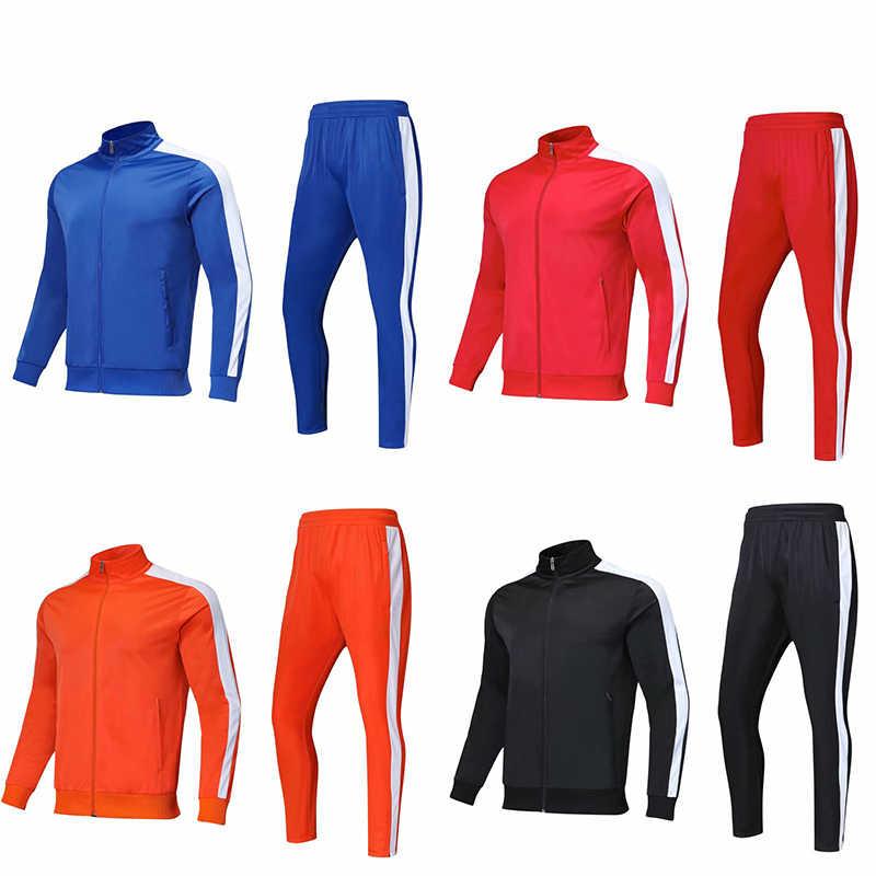 126c9e06c923 YINGRU Для мужчин футбол спортивные тренировочные костюмы 2018 2019  футбольные костюмы взрослых бега тренировочные свитеры форма