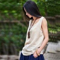 2017 New Summer Sleeveless Linen Cotton Women Tanks Soft O Neck Conforatble Vest Hot Tops Color