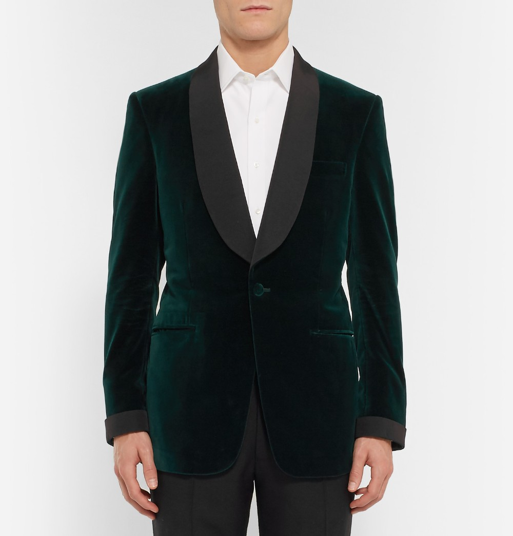 Green Velvet Tuxedo Jacket Designs Custom Made Men Suit jacket Elegant Smoking Dinner Jacket Slim Fit Wedding Suits For Men 1