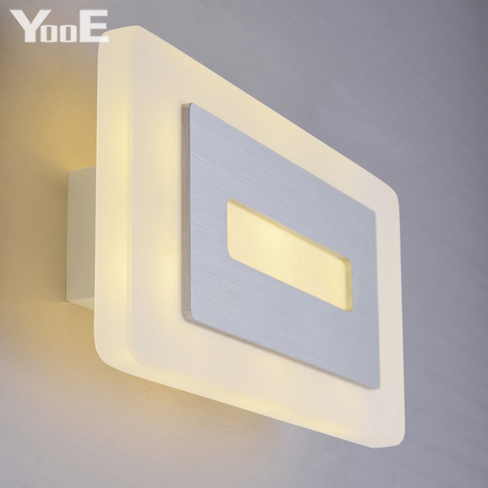 ФОТО Indoor LED Wall Lamp  6W  AC110V/220V Acrylic Lighting Sconce bedroom Warm White Decorate Wall Lights Free shipping