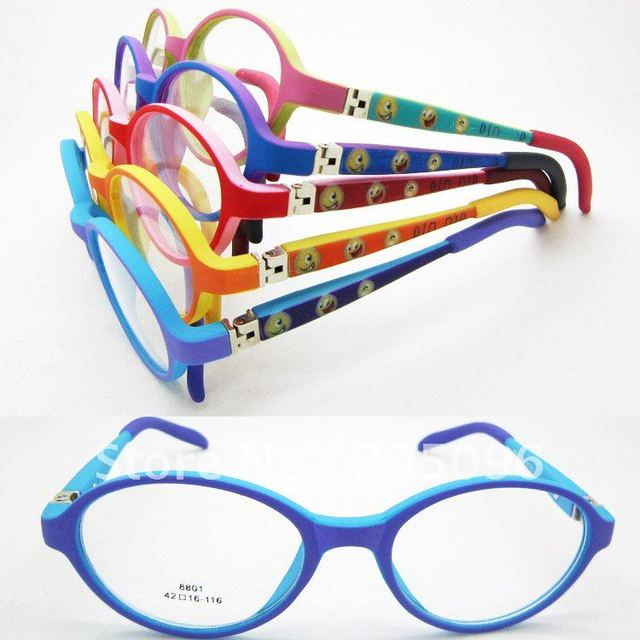 wholesales 8801 pupil TR90 cute colorful printing oval with flexible temple durable optical full-rim eyeglass frames