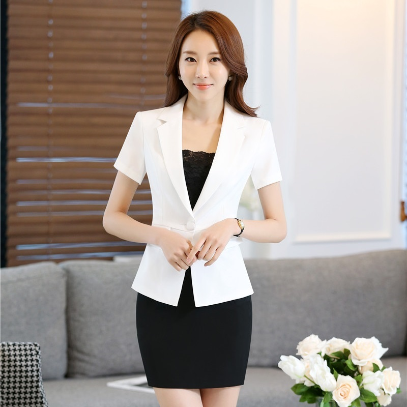 Formal Ladies White Blazer Women Summer Jackets Short ...