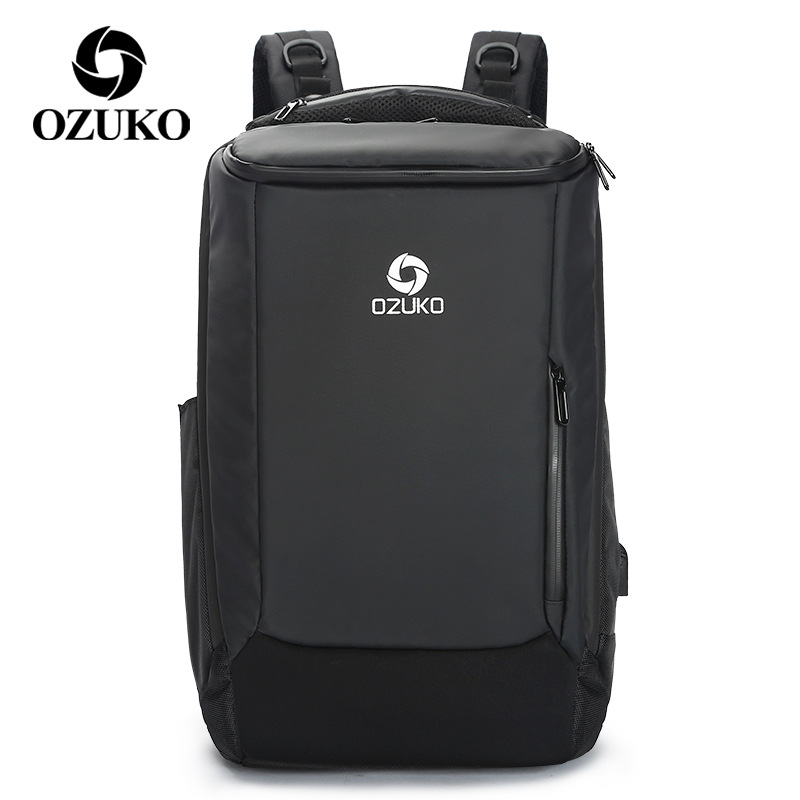 OZUKO New Multifunction Men s Backpack with Waterproof Rain Cover Fashion Business Travel Bag Laptop Backpacks