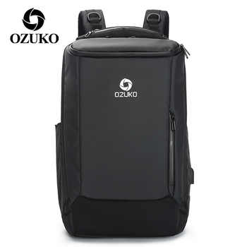 OZUKO New Multifunction Men\'s Backpack with Waterproof Rain Cover Fashion Business Travel Bag Laptop Backpacks School Bookbags - DISCOUNT ITEM  52 OFF Luggage & Bags