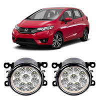 Car Styling DRL For Honda Jazz Fit 2013 2016 9 Pieces Leds Fog Lights H11 H8