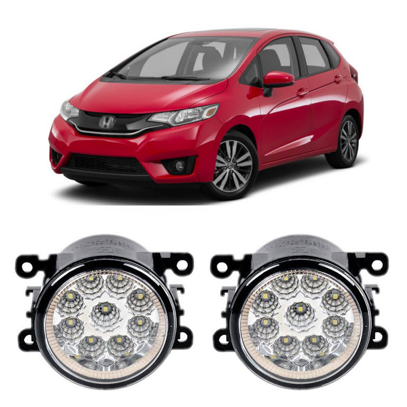 Car Styling Drl For Honda Jazz Fit 2017 2016 9 Pieces Leds Fog Lights H11 H8 12v 55w Led Lamp In Light Embly From Automobiles Motorcycles On