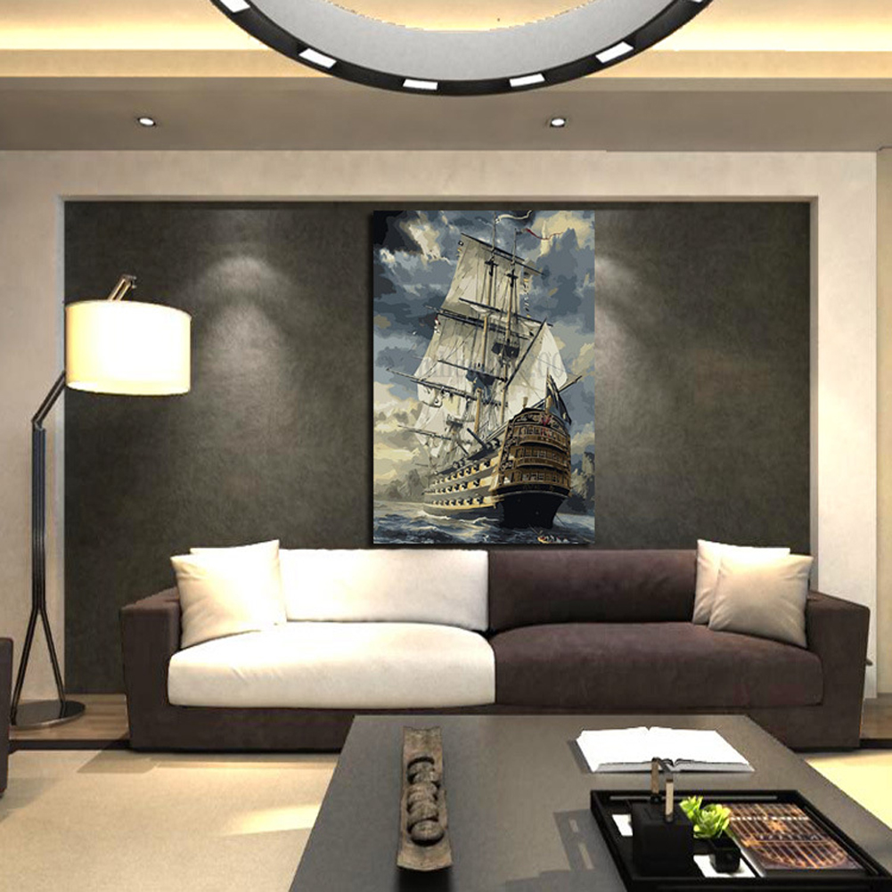 High Definition Ink Painting Sea Sailing Home Decoration DIY Painting Oil  Painting Living Room Home Wall Part 62