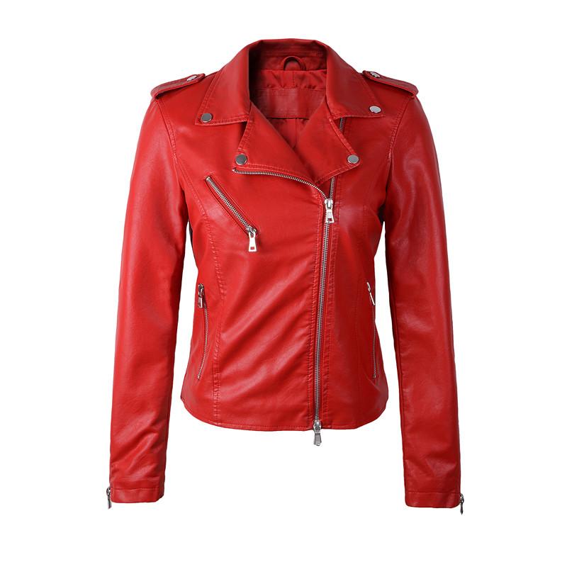 Resultado de imagen para chaquetas de cuero roja