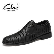 CLAX Men Oxfords Genuine Leather 2019 Summer MenS Formal Shoes with Breathable Holes Bussiness Dress Footwear Office