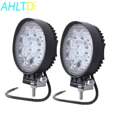 4 Inch 27w Square Round Led Work Light 4x4 Car Trucks Flood Spot Beam LED Headlights Off-road Vehicle Styling