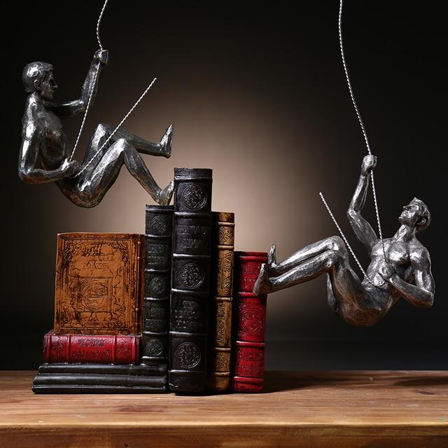 Modern Minimalist Character Rock Climbing Man Wall Hangings Creative Home Living Room Decorative Crafts