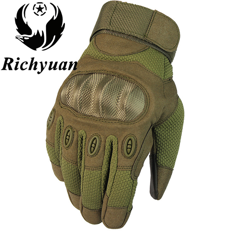 Touch Screen Tactical Gloves Army Military Paintball Shooting Airsoft Combat Anti-Skid Bicycle Hard Knuckle Full Finger Gloves