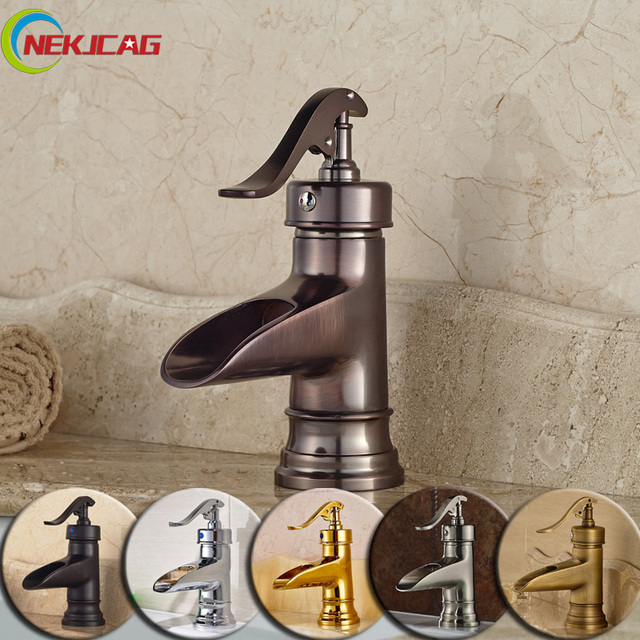 Best Quality Waterfall Spout Short Basin Faucet Bathroom One Handle ...