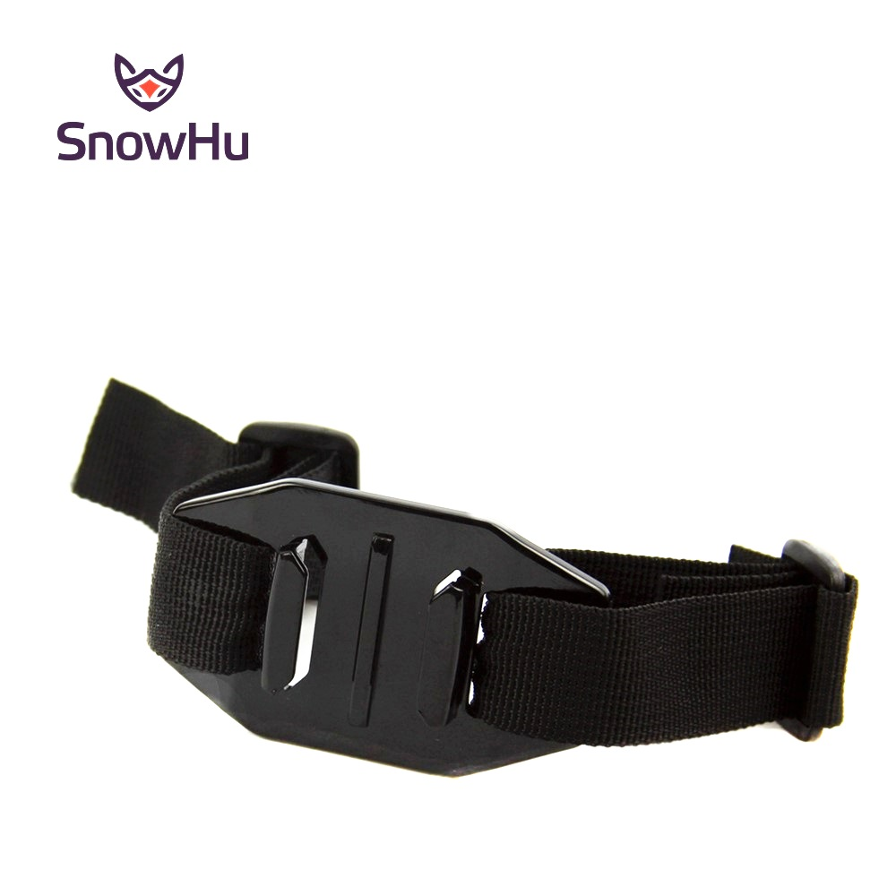 SnowHu Head Helmet Strap Vented Adjustable Belt Holder Adapter For Go Pro Hero 8 7 6 5 4 3+ Xiaomi Yi 4K SJCAM Accessories GP04