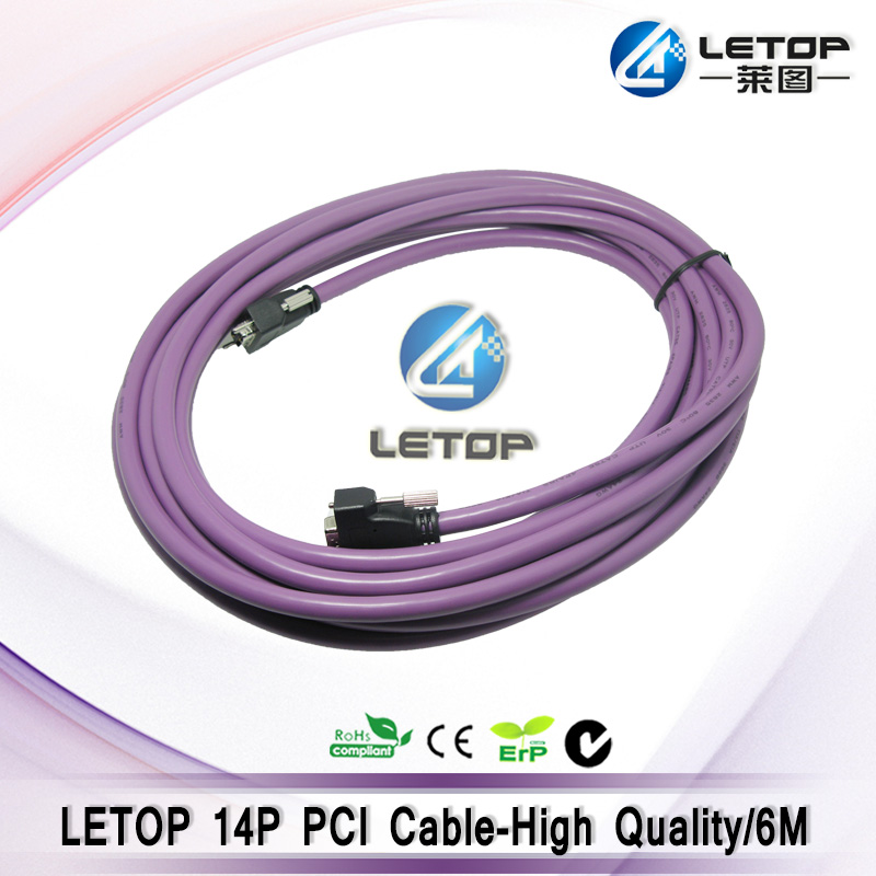 BYHX board PCI cable 6meter 14pin purple data cable for allwin solvent printer byhx km1024 8 headboard for allwin konica1024 printer