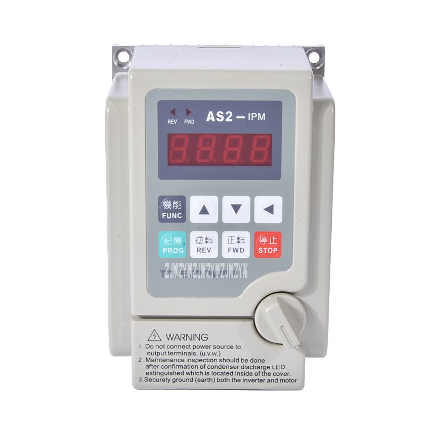 цена на New 220v 0.75kw/750W AS2-107 or AS2-IPM Inverter Drive 380v Motor Speed Controller Used for 3-phase 220V or 380V Motor Hot Sale