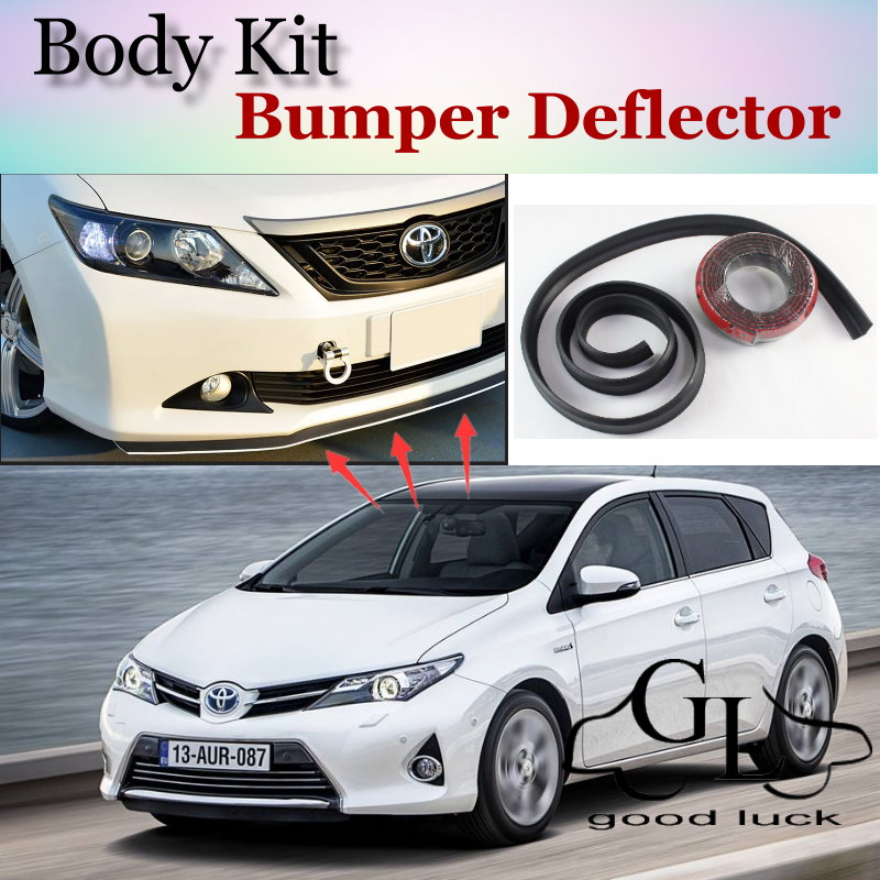 For <font><b>TOYOTA</b></font> Auris <font><b>Corolla</b></font> Hatchback For Scion iM Bumper Lip / Front <font><b>Spoiler</b></font> Scratch Proof Adhesive / Body Kit / Strip Skirt image