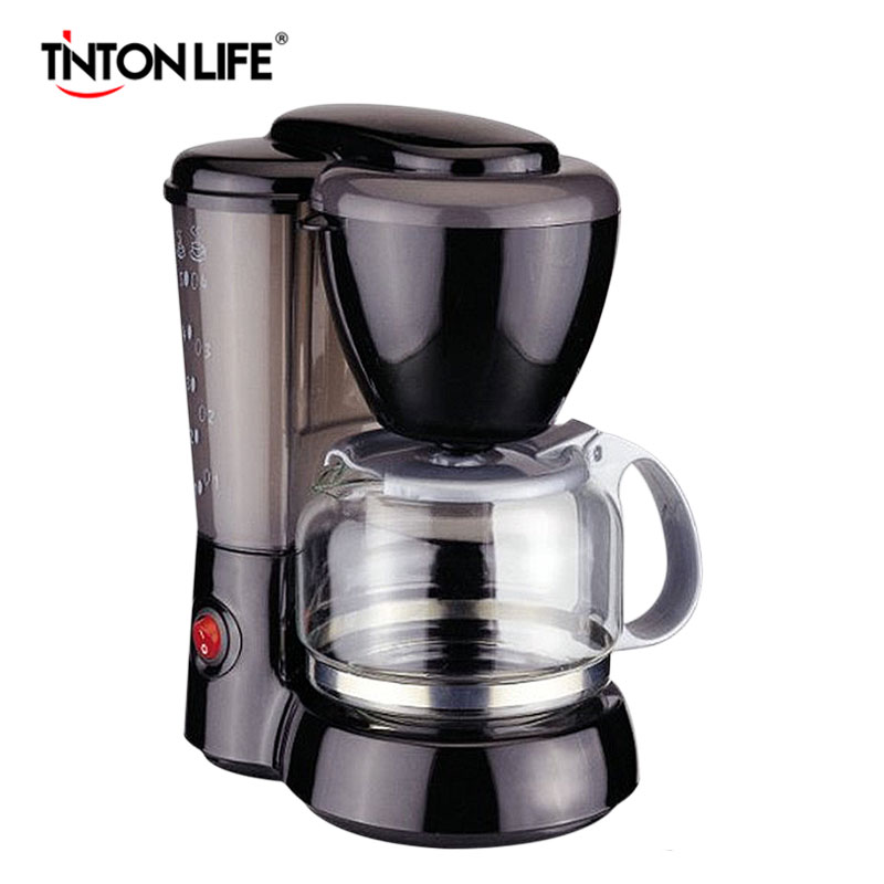 TINTON LIFE High-quality Automatic Espresso Electric Coffee Maker Drip Coffee Machine italy espresso coffee machine semi automatic maker cup warming plate kitchen