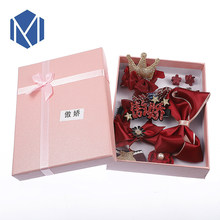 Kids Lace Bow Ribbon Gift Crown Hairpins Cute Hair Clip Princess Hair Accessories Set With Box For Girls Birthday Barrette(China)