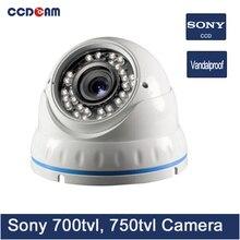 Ccdcam Sony CCD 700TVL 750 ТВЛ Открытый купольная камера видеонаблюдения аналоговые камеры видеонаблюдения