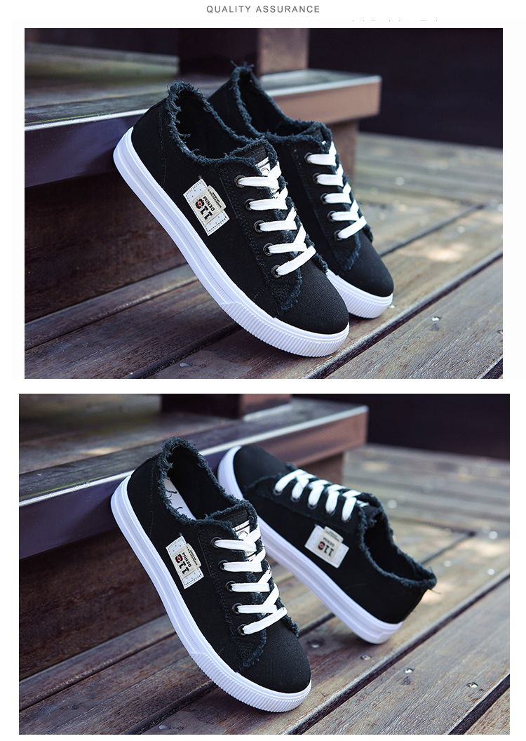 51fee361982 Casual shoes woman 2017 new arrival lace-up canvas shoes spring ...