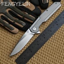 Ben Longwind F-1601 CPM 20CV steel blade Bearing TC4 titanium folding knife camp hunt outdoor survival pocket knives EDC tool