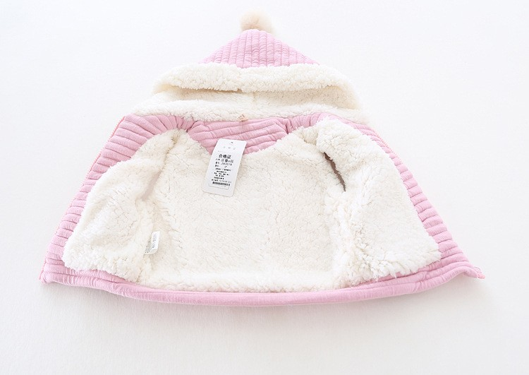 baby girl winter warm fleece vest jacket waistcoat hooded (4)