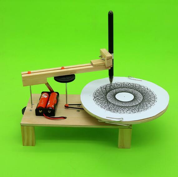DIY Электрический плоттере рисунок робот комплект физики научного эксперимента набор творческих изобретений собрать модель игрушки для дет...