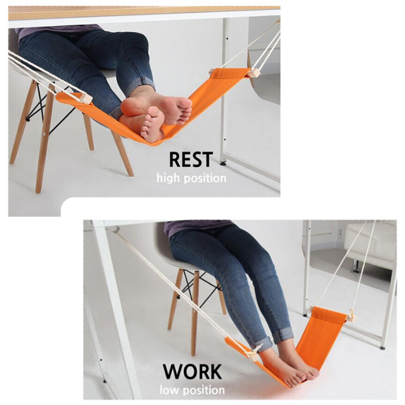 60*16cm Hammock For Office Siesta Afternoon Sleep Nap With Desk Hanger Hammock Rest Foot Noon Time Snooze Refreshing And Enriching The Saliva Self Defense Supplies
