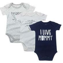 Боди для новорожденных мальчиков и девочек 3 шт/упаковка одежда