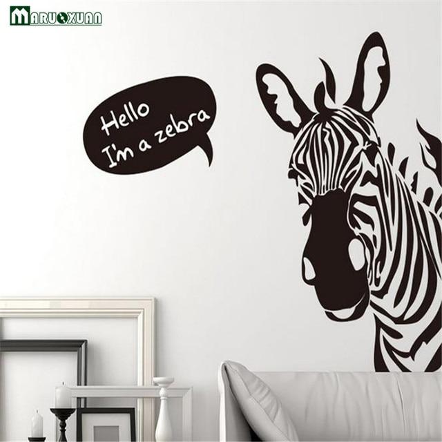 Neue Ich bin ein zebra aufkleber großhandel Zebra Jugend Abnehmbaren ...