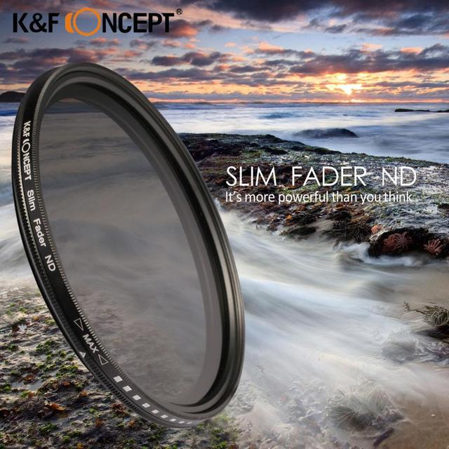 40.5/52/55/58/62/67/72/77mm Slim ND2-ND400 Neutral Density Fader Variable ND Filter Adjustable For Canon Nikon Sony Samsung DSLR