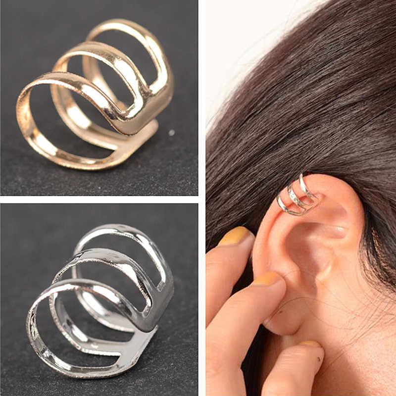 ES131 Nuovo stile di antico complesso hollow a forma di U clip di orecchini non trafitto orecchini clip orecchio osso invisibile gli uomini e le donne