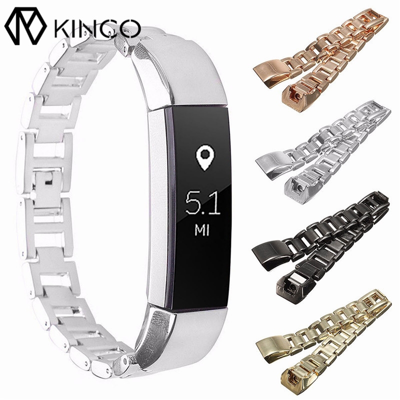 KINCO Watch Luxury Stainless Steel Wristbands Metal Bands Bracelet Wrist Strap for Fitbit Alta Tracker Smart Watches Straps