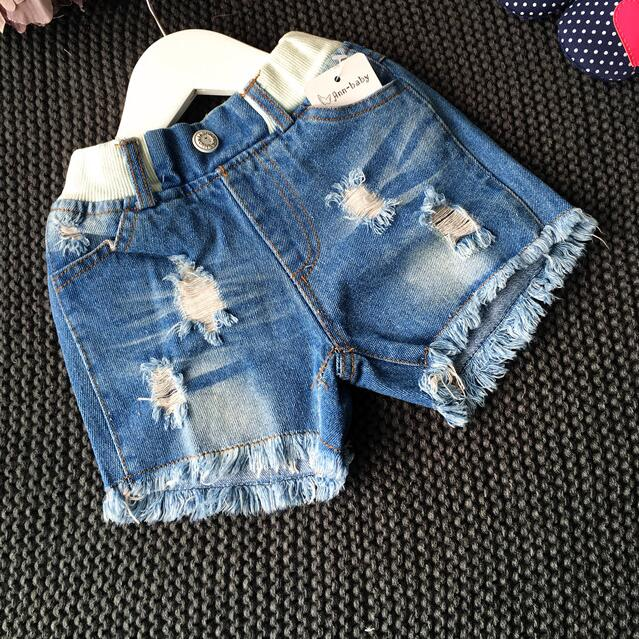 how to make cute holes in jean shorts