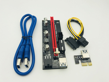 100PCS 009S PCI E Express 1X to 16x Extender Riser Card USB 3.0 SATA 15pin Male to 6pin Power Cable for BTC Bitcoin Miner Mining
