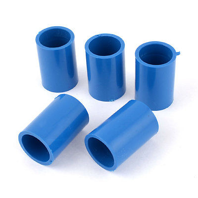 5 pcs 20mm inner dia straight pvc pipe connectors fittings coupler blue in connectors from home. Black Bedroom Furniture Sets. Home Design Ideas