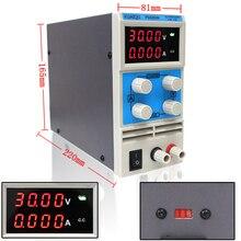 Cuatro de visualización de fuente de alimentación de laboratorio adiustable, mini 0 30 V 5A de Conmutación de alimentación ininterrumpible