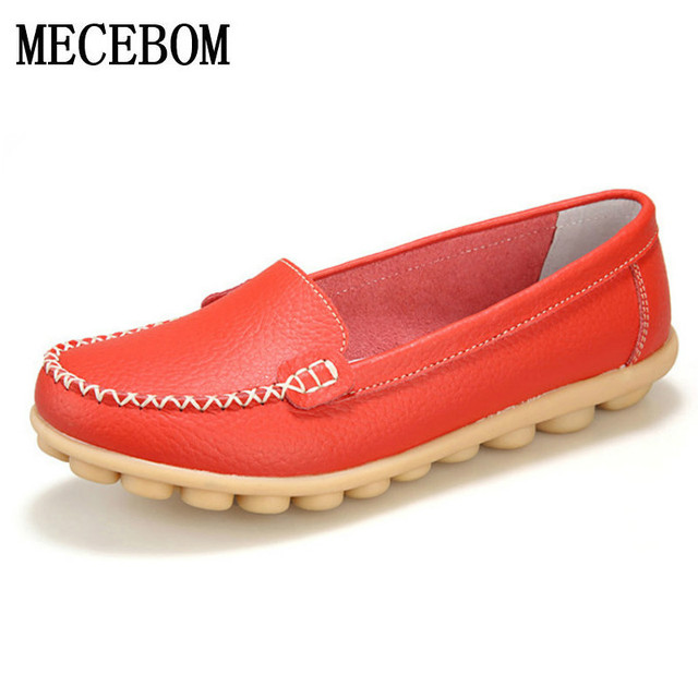 2017 New genuine Leather Women Flats Moccasins Loafers Wild Driving women Casual Shoes Leisure Concise Flat In 7 Colors 918W