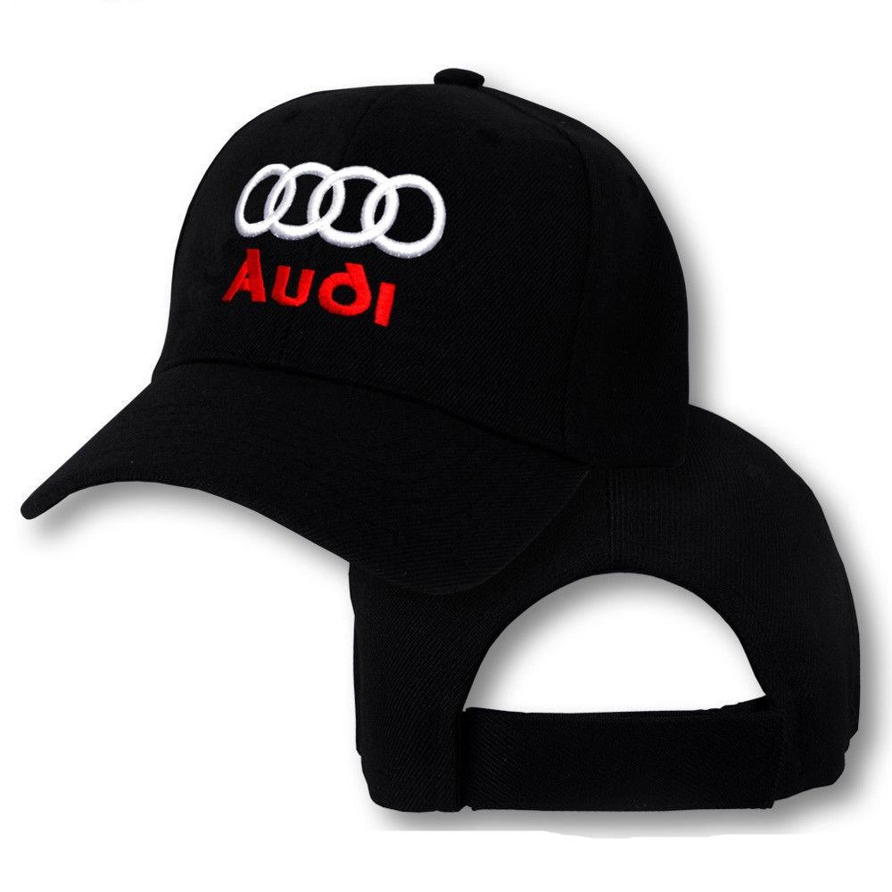 Audi Logo Cap Sport Quattro Hat TT R8 A3 S3 A4 S4 A5 S5 RS5 A7 RS7 Q3 Q5  adjustable baseball cap men 15fb01d7e88