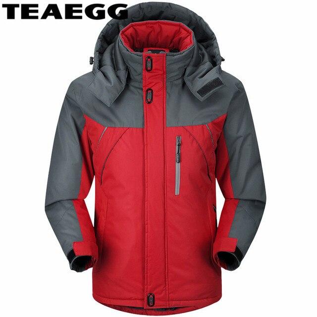 € 37.54 49% de réduction|TEAEGG Coton D'hiver Veste Homme Étanche Campera Hombre Épais Casual Homme Veste Parka Plus La Taille 5XL Casacos Masculino